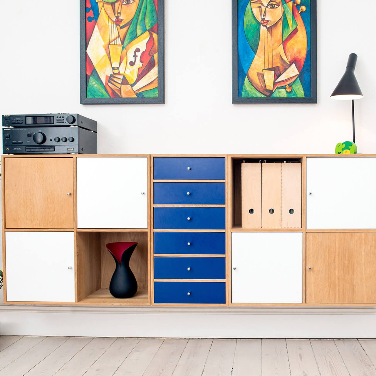 Hand Crafted Multi Coloured Chest Of Drawers